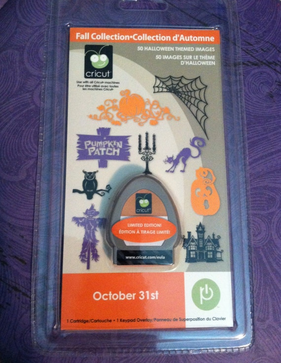 October 31st Halloween Cricut Cartridge Provo Craft 50 Images Witch Ghost Candy Pumpkin Webs Die Cut