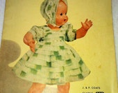 1951 Coats and Clarks Crochet Pattern Booklet-The Doll Book