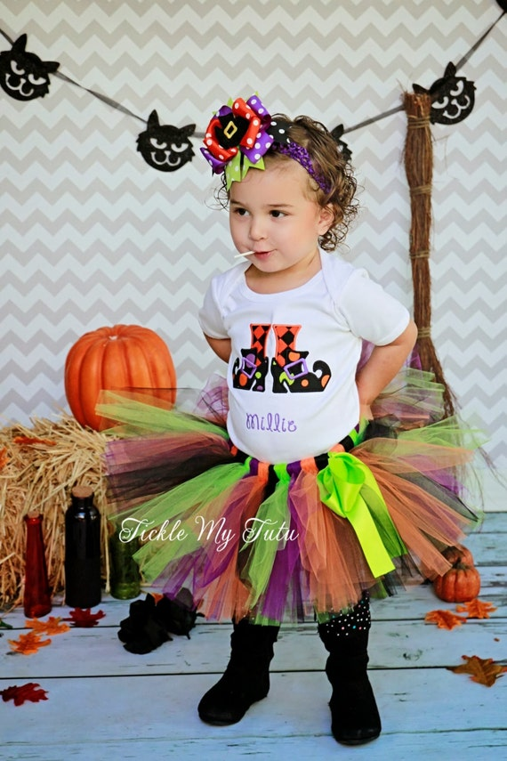 Halloween Tutu Outfit-Witch's Feet Halloween Tutu Outfit-Halloween Birthday Tutu Outfit-Halloween Pageant Outfit *Bow NOT Included*