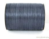 Matte Navy Blue Raffia Ribbon - 30/100 yards - 1/4 inch wide