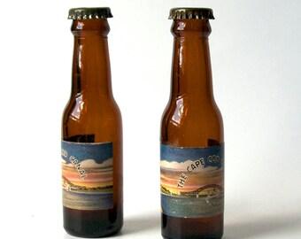 Cape Cod, Salt n Pepper Shakers, brown glass bottles