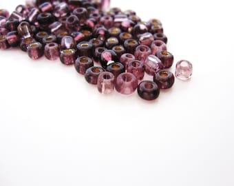 Purple Seed bead Destash Plum Violet