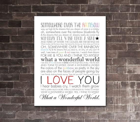 Lyrics to the world is a rainbow