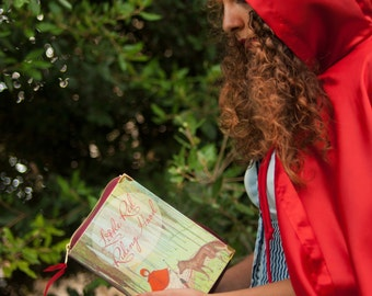 Red Riding Hood with Vintage Illustration Book Clutch