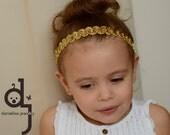 Gold Sequin headband /child gold headband / sequin headband