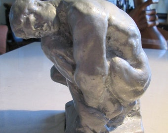 male nude, seated ..... limited edition of only a few will be made.. classic sculpture