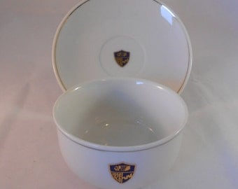 Vintage ABCO Western Airlines Bowl & Saucer