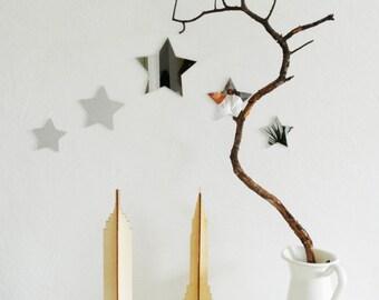 5 Star mirrors. Beautiful nursery decoration