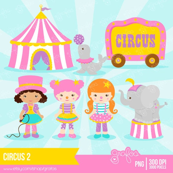 Circus Girl Childrens Art Illustration Print Nursery Art |Circus Girl Art Print
