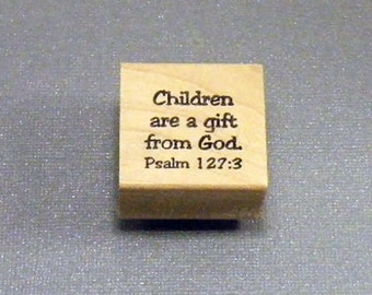 Rubber Stamp Children are a gift from God