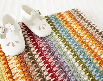 Easy Baby Blanket, Crochet Pattern, Adult Afghan, Including Multiples, Bed Throw, Baby Swaddle, Receiving Blanket, Modern Farmhouse