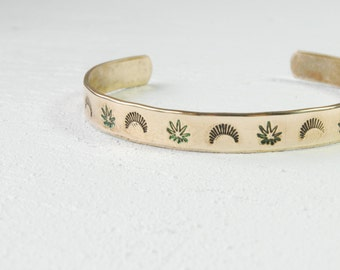 SALE Sunshine & Mary Jane Print Cuff
