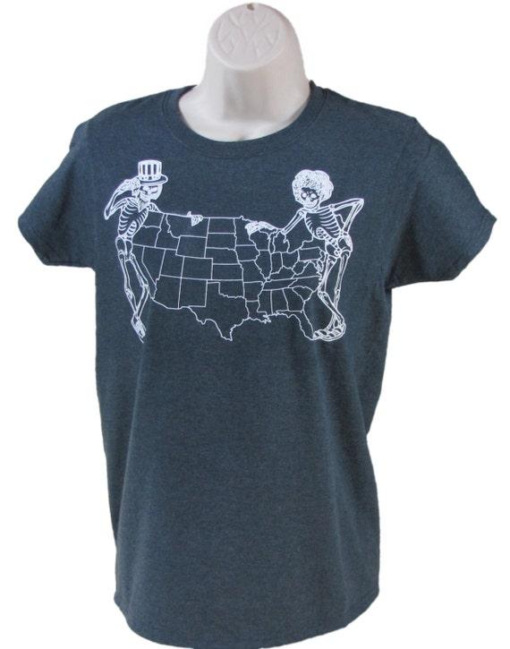 Women S Grateful Dead Skeleton Coast To Coast T Shirt