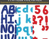3 Pattern Multipack: Uppercase Alphabet, Lowercase Alphabet, and Number & Punctuation Motif Patterns - PDF Digitial Download