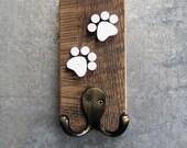 Pet Leash Hook. Barn Board.