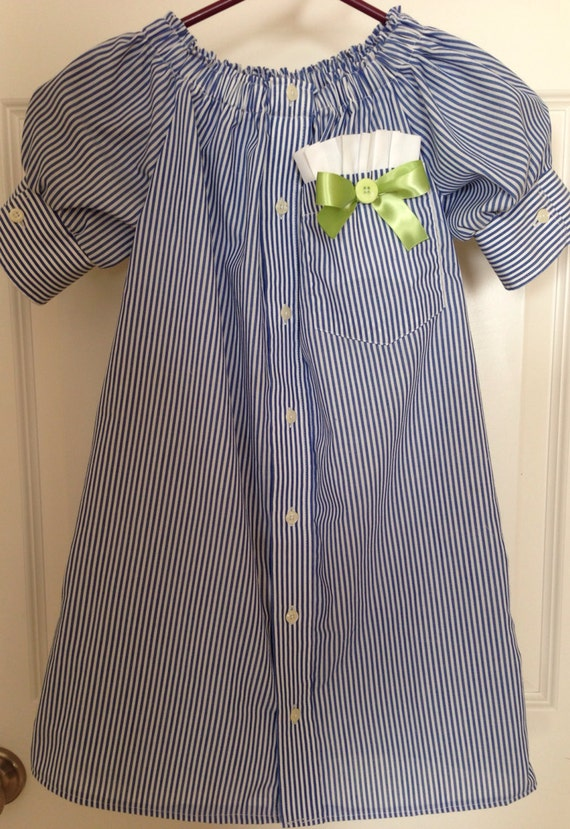 Girls repurposed men 39 s shirt dress size 6 for Mens dress shirts sizes