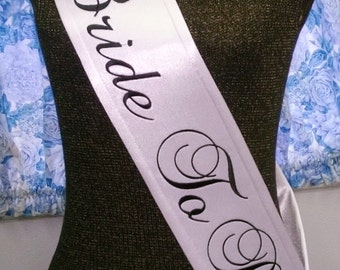 Personalized Sash Bachelorette Party Bride To Be Banner Monogrammed