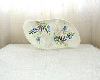 Red Wing Country Garden oval divided vegetable bowl
