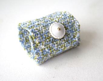 Handmade Crochet  bracelet..Blue,Green,White bracelet,button Woman Cuff Bracelet, Fashion Summer Jewelery Bracelet, Knit Cuff Bracelett