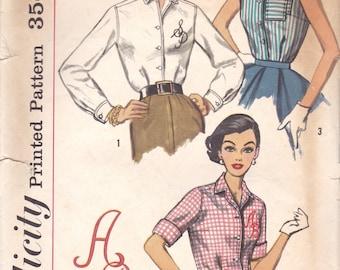 1950s Blouse Pattern Simplicity 2195 Size 14