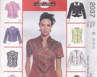 Versatile Blouse Pattern McCalls 2037 Sizes 8-12 Uncut
