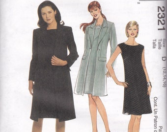 Sleeveless Dress and Long Jacket Pattern McCalls 2321 Sizes 12, 14 & 16 Uncut