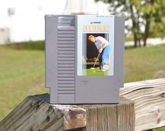 Vintage Nintendo Game Jack Nicklaus' Greatest 18 Holes of Major Championship Golf Konami 1988, Tee, Golf Course, Muirfield, Royal Lytham