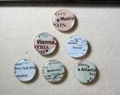 Custom City Magnet Set - Fridge Magnets - Refrigerator Magnet - World Magnet Set