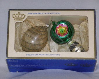 Vintage Sears Imperial Collection Set of Christmas Tree Ornaments Made in West Germany
