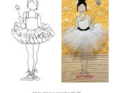 Ballerina Girl Patterns - Digital Download