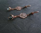 Victorian Jewelry - Aqua Blue - Flower Charm - Romantic Bohemian Jewelry