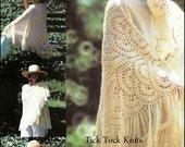 No.293 Crochet Pattern PDF Vintage Women's Crescent Shawl - Retro Crochet Pattern For Women - Instant Download