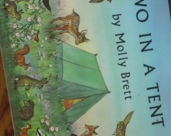 Two In A Tent by Molly Brett vintage 1969 softcover illustrated children's book from the Medici Society