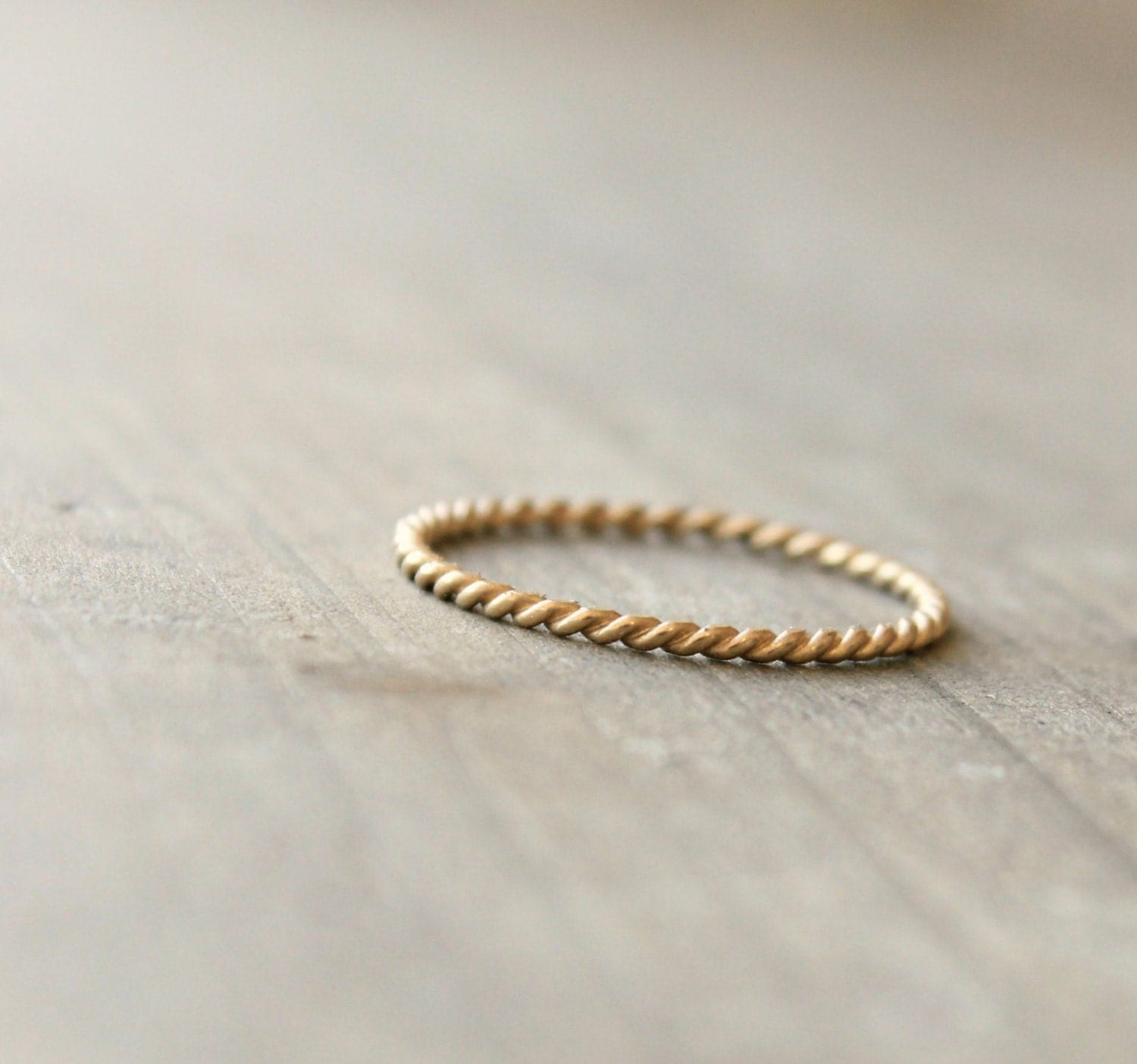 gold rope ring infinity twist wedding band Gold Wedding Band Anniversary Ring 14 k Gold Stacking Ring Delicate Thin Petite Ring Twined