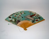 1960s Hand Held Advertising Fan for JAL Japan Airlines Vintage Fan Vintage Advertising Vintage Transportation Vintage Aeronautica