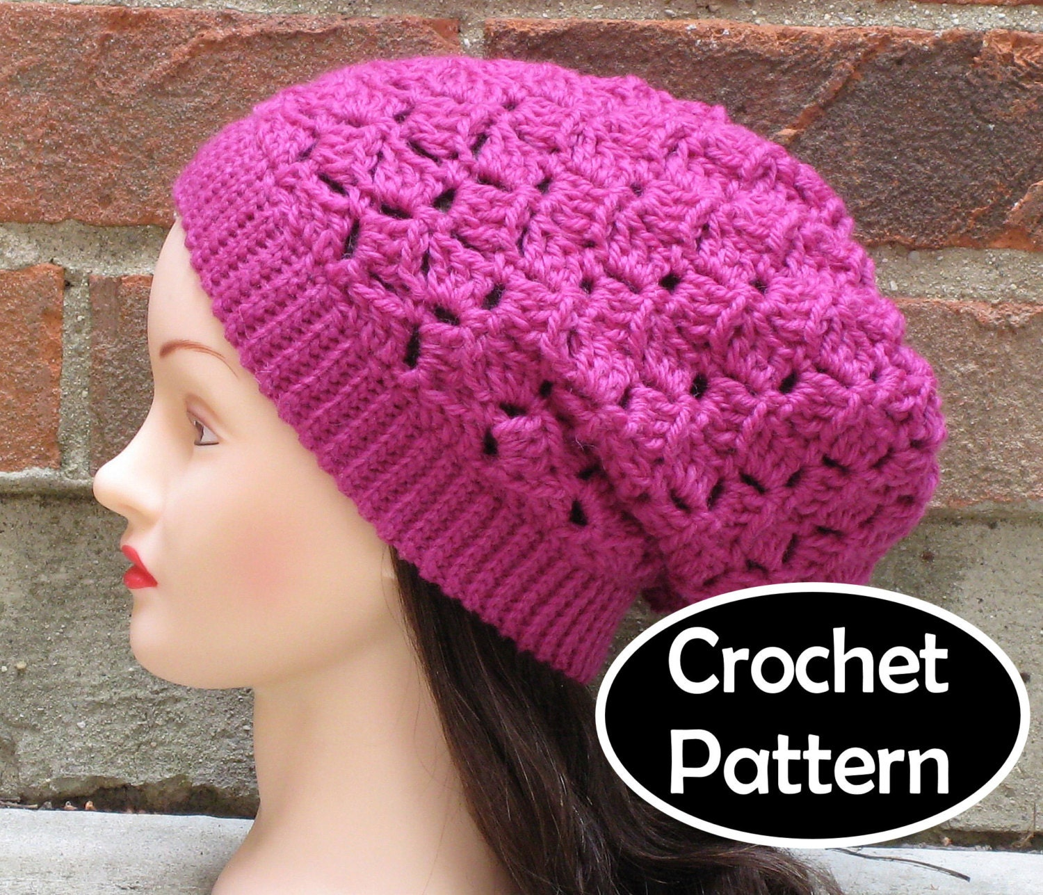 Crochet Hat Pattern Download : CROCHET HAT PATTERN Instant Download Elizabeth Slouchy