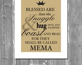 Instant Download // Personalized GRANDMA QUOTE // Typography MEMA Gift // Customizable Wall Sign for Grandma
