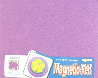 "Magnetic Felt Sheet~1 Sheet~9"" by 12""~Lavender~Make Your Own Magnets~DIY Crafts~Gifts~Locker Accessories~Heavyweight Magnet~Lavender Felt"