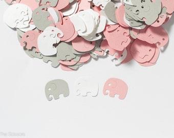 Elephant Baby Shower Decoration -  Elephant Confetti - Pink and Gray Baby Shower Decorations