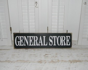 General Store Sign Wall Decor Rustic Country Decor Signs