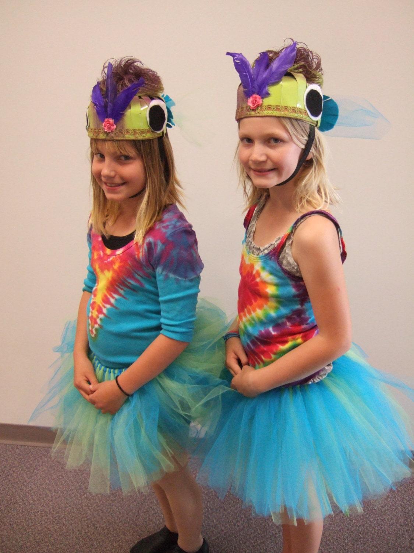 Upcycled steampunk clothing rainbow fish costume tutu for Fish head costume