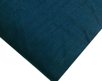 Dark Teal Dupioni Indian Silk Fabric - Pure Silk Dupioni - Raw Mulberry Silk - Indian Dupioni Silk