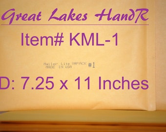 "10 KML-1, Kraft Bubble Cushioned Envelope Mailers, OD: 8"" x 11"""