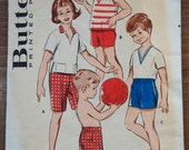 """1950's Kid's Active Wear pattern - Top ONLY - Breast 22"""" - No. 8992"""