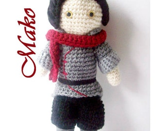 Crochet Doll - Mako - Legend of Korra Inspired
