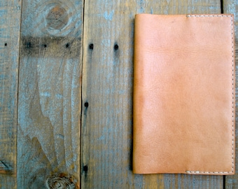 Recycled Natural Tan Leather Medium Moleskine Notebook Cover