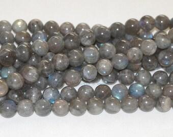 "Labradorite 10mm Round Gemstone Beads - 15.50"" Strand"
