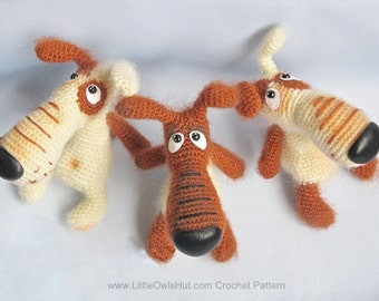 037 Dog Lucky Crochet Pattern. Toy Amigurumi - PDF file by Borisenko Etsy