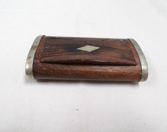 FREE SHIPPING // French Antique rosewood snuffbox 1800s w965