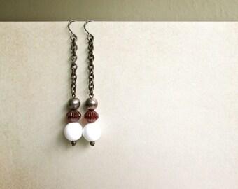 Ruby Drop Earrings vintage by Nancelpancel on Etsy